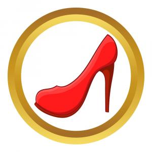 Heels And Lipstick Clipart-Vector: Red High Heel Shoe Icon Vector