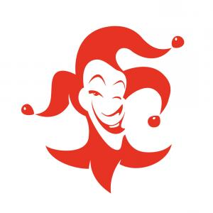 Joker Smile Vector Art: Clown Smile Vector Cartoon With Red Hair And Blue Makeup Gm