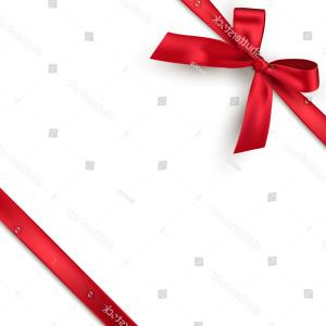 Vector Holiday Bow: Red Realistic Gift Bow Ribbon Isolated