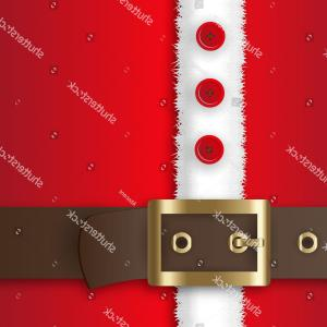 Vector Santa Belt: Beard Santa Suit Belt Gold Buckle