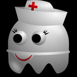 Nurse Vector Art SVG: Registered Nurse Avatar Character Wearing A Hat Free Vector Clipart Illustration