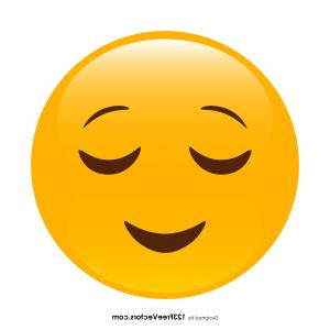 Good Looking Face Emoji Vector: Relieved Face Emoji Vector Download