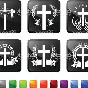 Free Stock Vector Graphics: Religious Christian Imagery Royalty Free Vector Graphics Vector Icon Set Stickers Gm