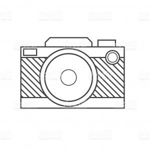 Camera Outline Vector Graphic: Camera Lens Outline Icon Gm