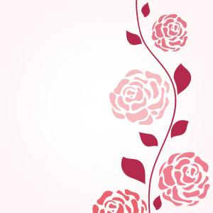 Retro Rose Vector: Retro Card With Vintage Rose Vector