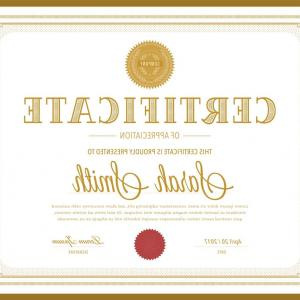 Vector Gift Certificate Templates Appreciation: Retro Gold Certificate Vector Template
