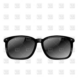 Black Sunglasses Clip Art Vector: Retro Stylish Sunglasses Vector Clipart