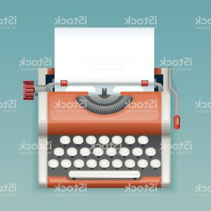 Vintage Blank Paper Vector: Retro Vintage Manual Typewriter With Blank Paper Sheet Writer Mass Media Press Gm