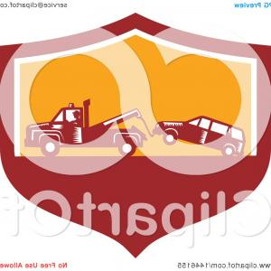 Tow Chain Vector: Towing Service Icon Flat Graphic Design Gm