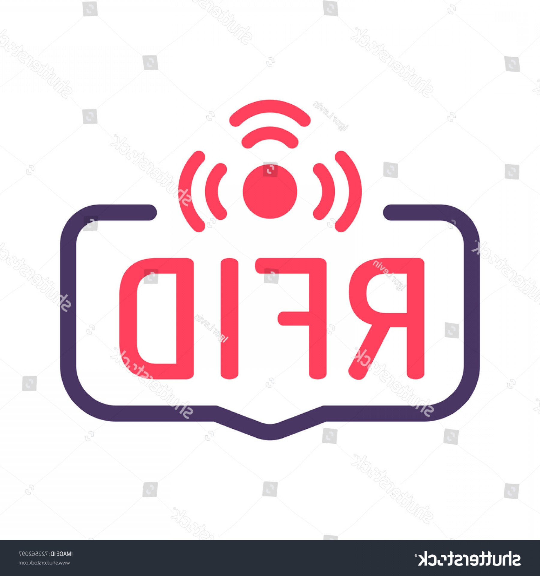 Radio Frequency Vector: Rfid Radio Frequency Identification Badge Icon