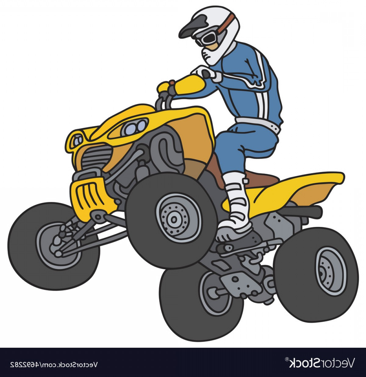 ATV Rider Vector: Rider On The Atv Vector
