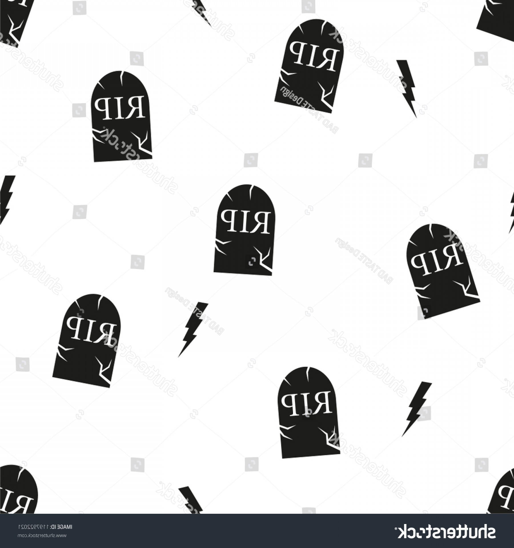 Gravestone Black And Whit Vector JPEG: Rip Black Gravestones On Transparent Background