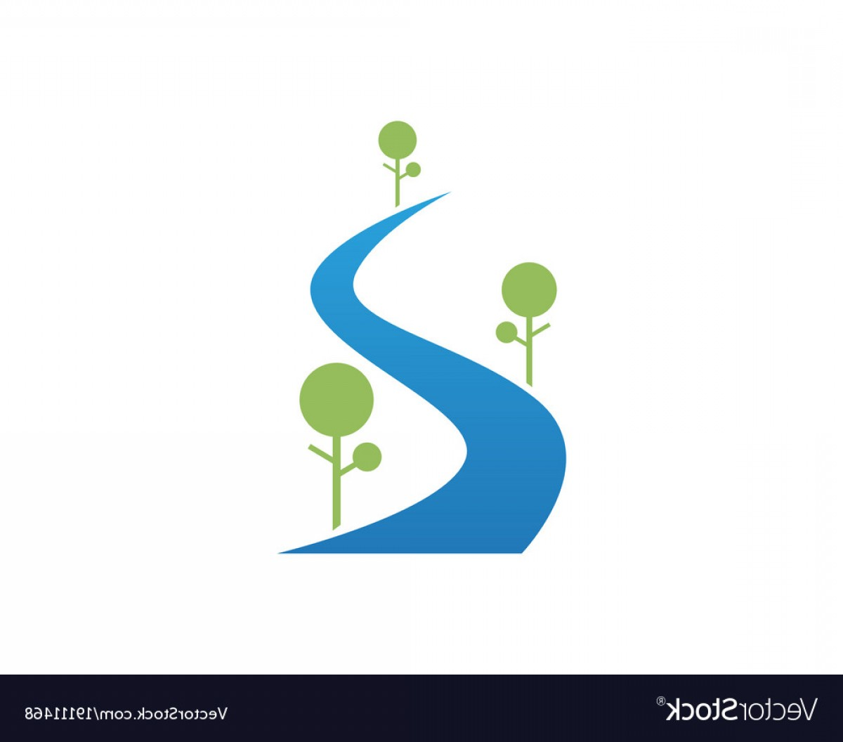 River Vector Art: River Logo And Symbols Icons Template App Vector