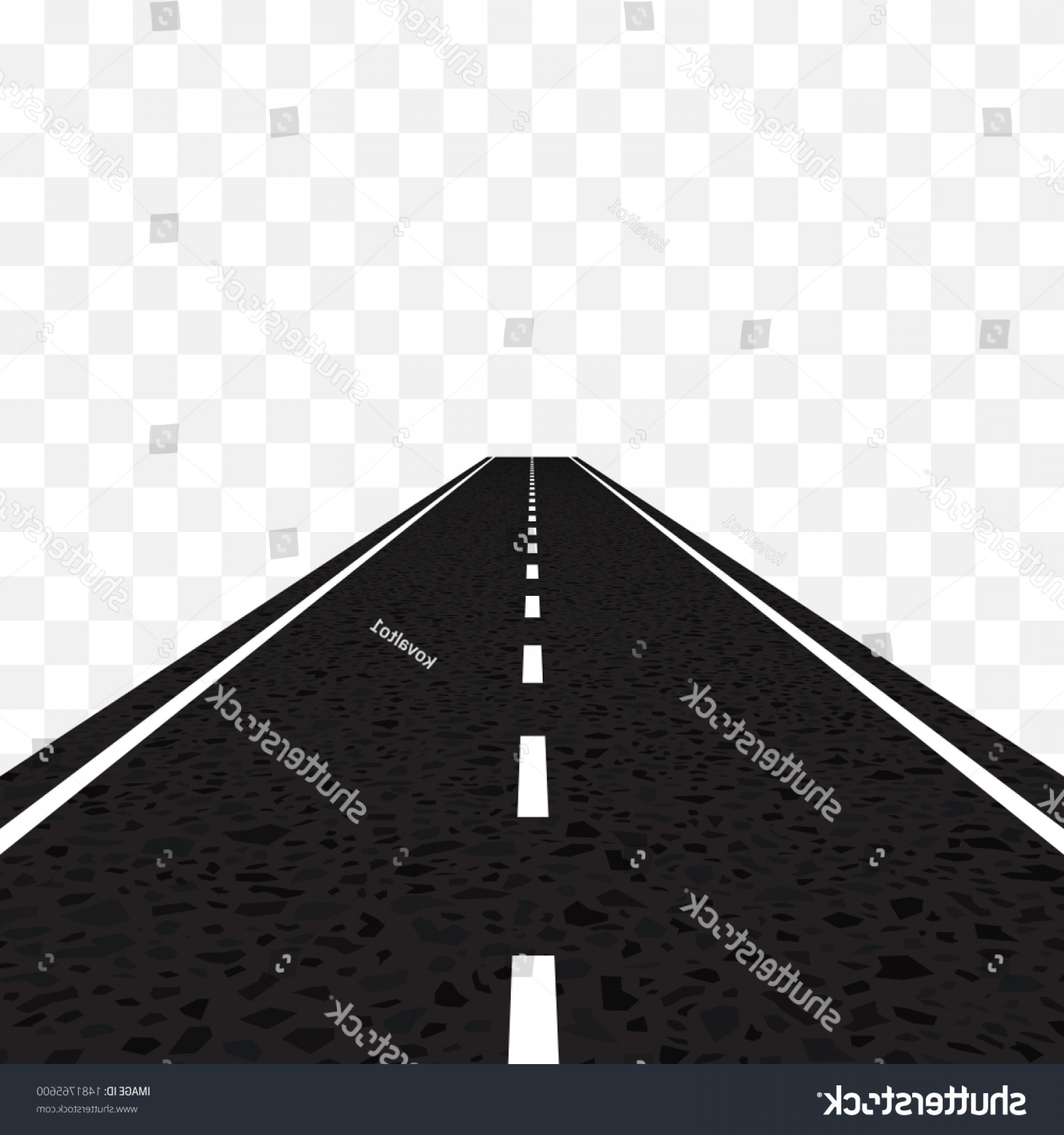 Perspective Vector: Road Linear Perspective Vector Illustration Isolated