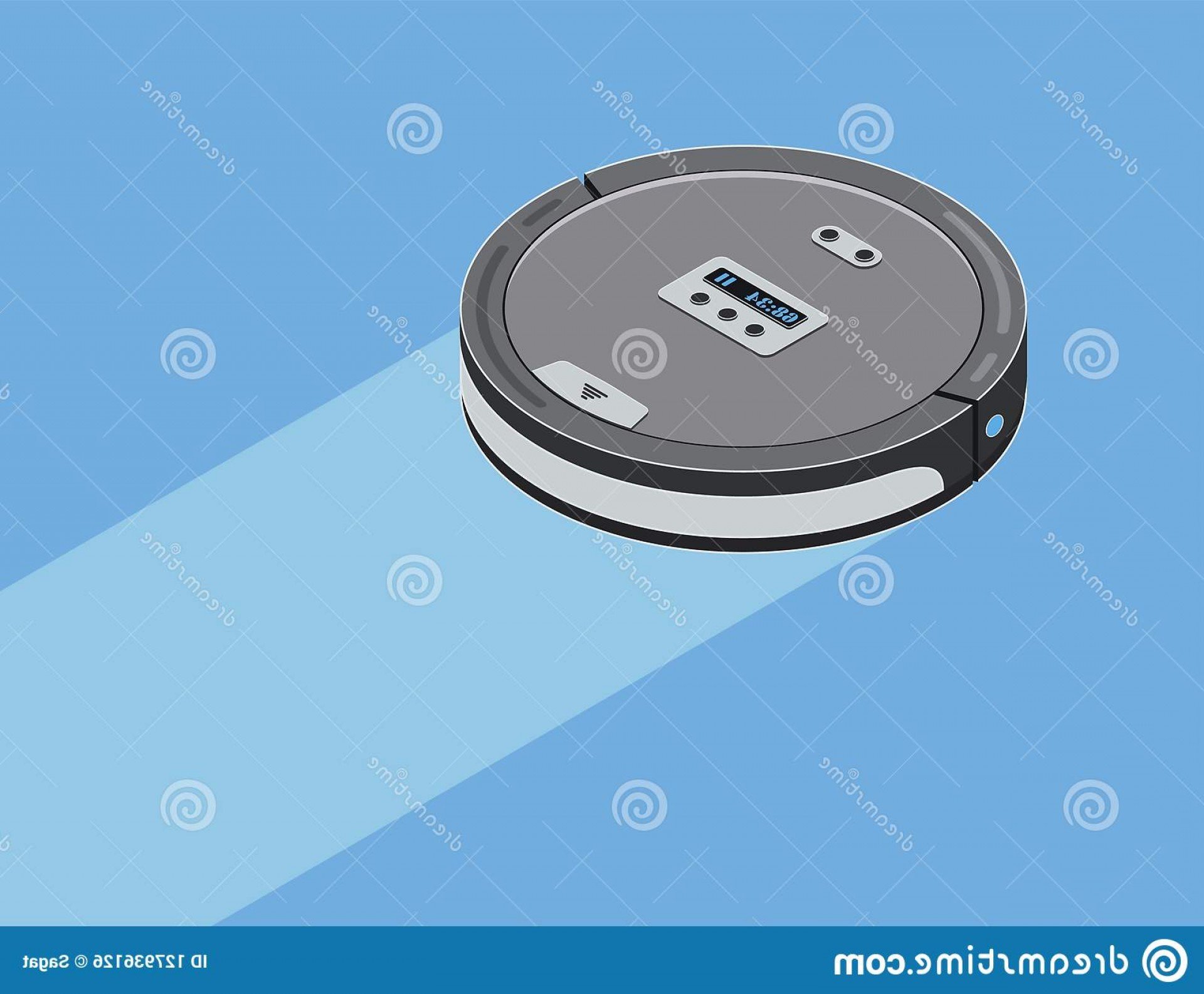 Vector Vacuum Technologies: Robot Vacuum Cleaner Isometric Robot Vacuum Cleaner Smart Robotic Household Appliance Cleaning Isometric Vector Illustration Image