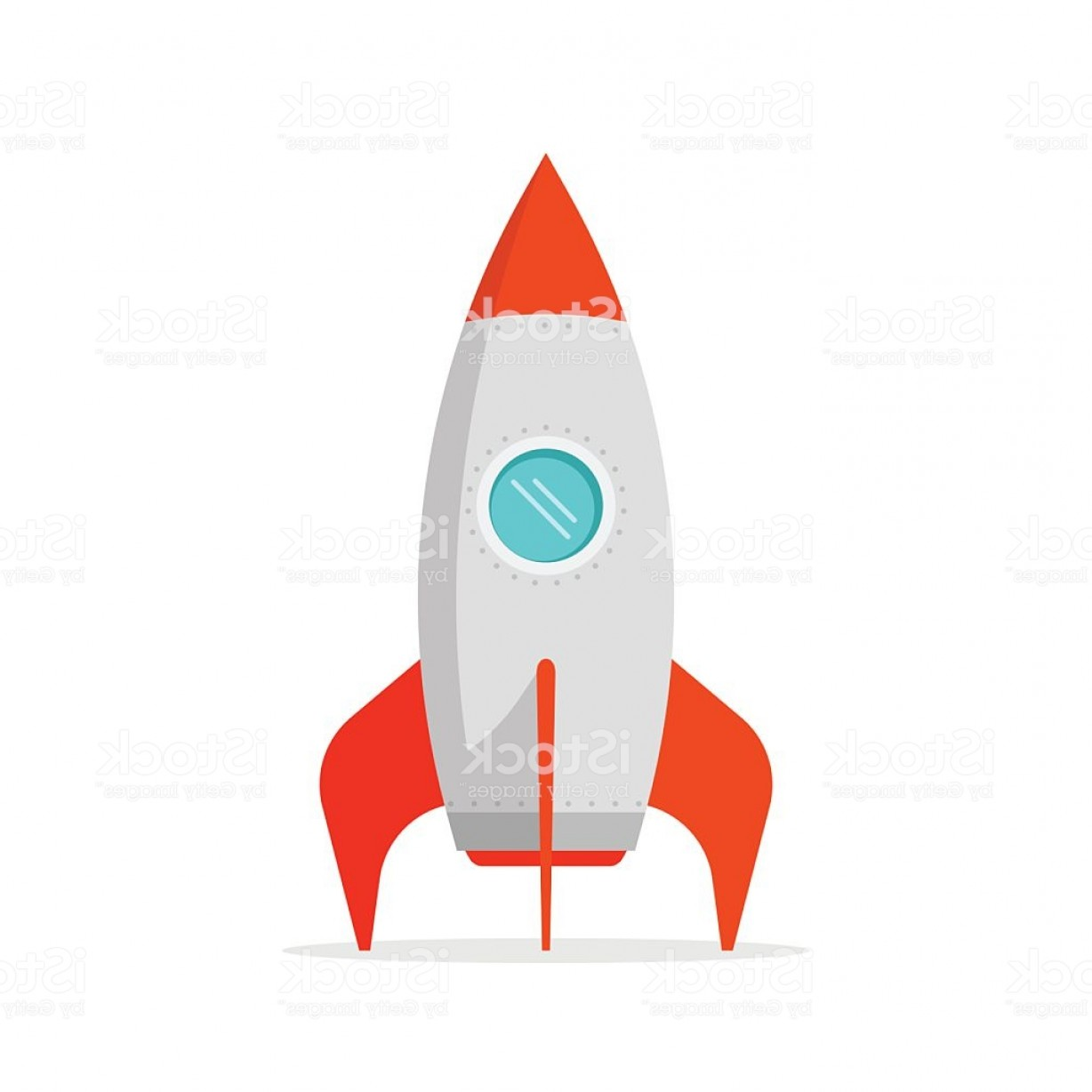 Rocket Ship Vector: Rocket Ship Vector Isolated On White Background Standing Gm