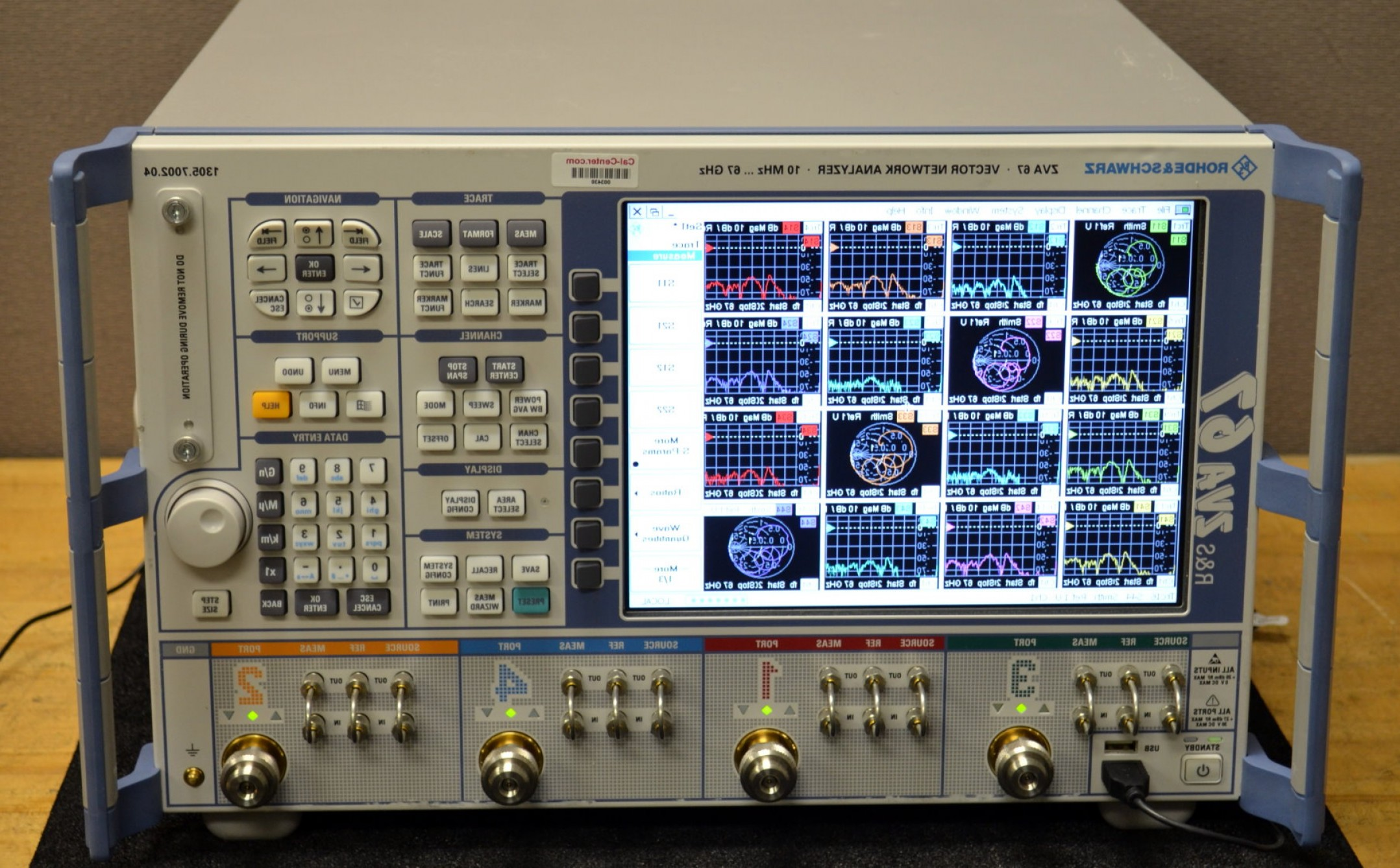 Vector Network Analyzer: Rohde Schwarz Zva Vector Network Analyzer Mhz Ghz