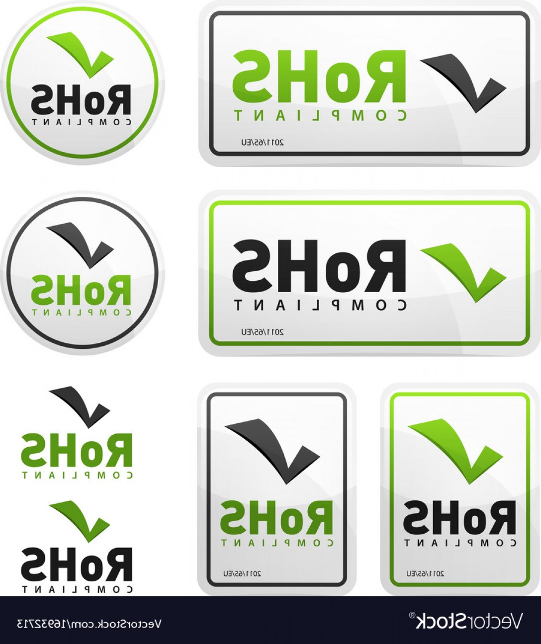 RoHS Logo Vector: Rohs Compliant Icons Set Vector