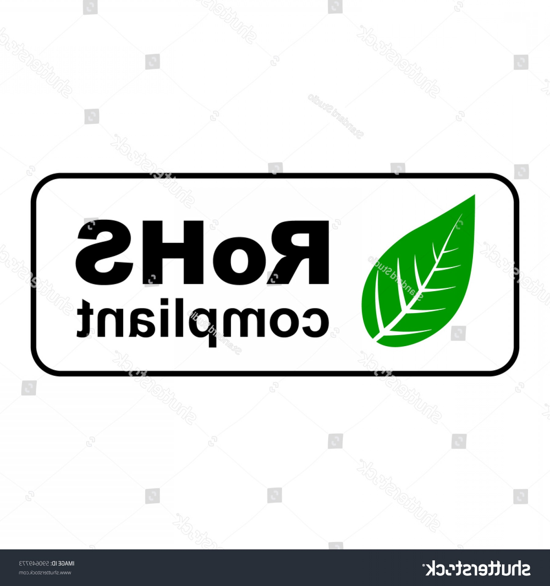 RoHS Logo Vector: Rohs Compliant Sign Green Leaf Vector