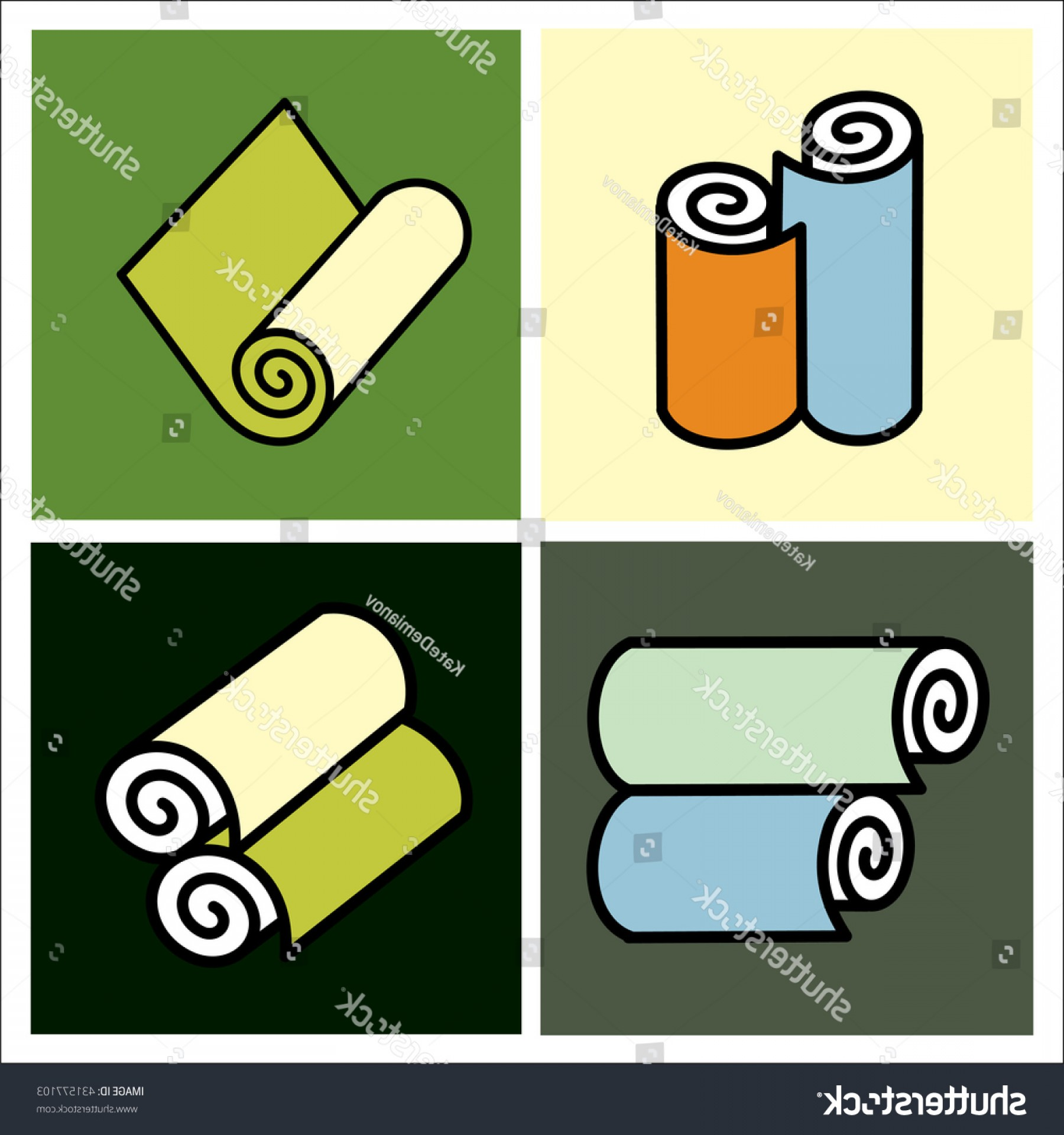 Vector Vinyl Rolls: Rolls Wallpaper Wallpapers Icon Vector