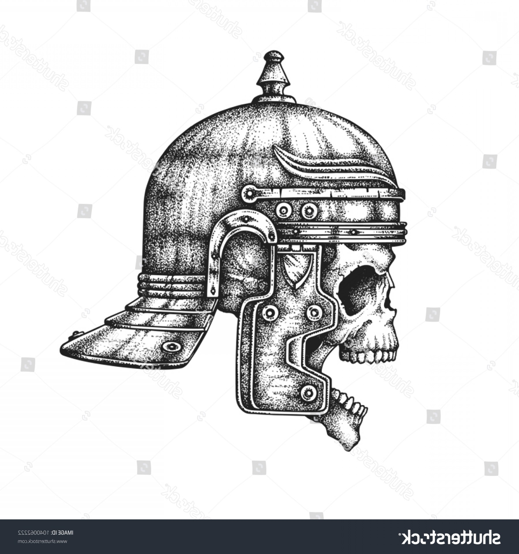 Boba Fett Vector Black And White: Roman Empire Legionary Skull Imperial Gallic