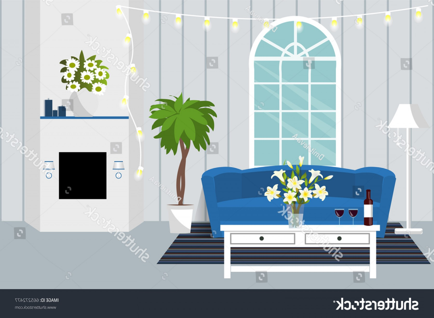 Vector Background For Living Room: Room Interior Vector Living Design Lounge