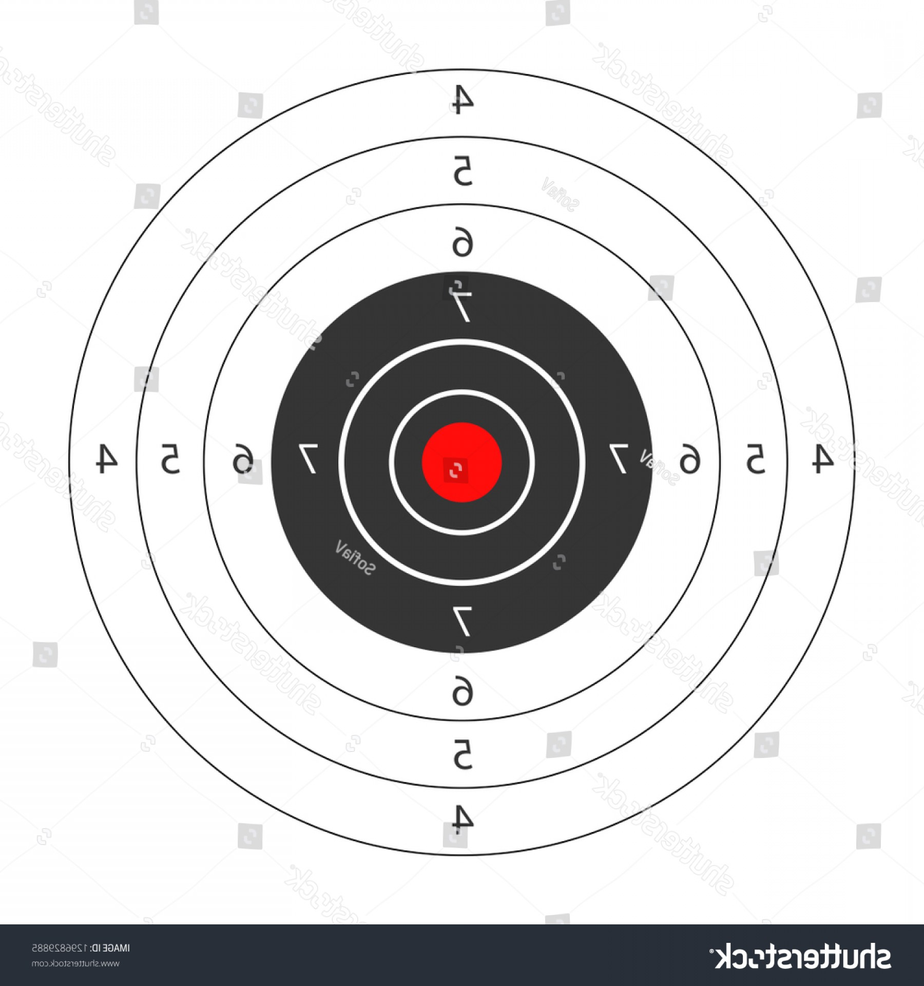 Vector Sport Spot 1 Million: Round Target Red Spot Middle Shooting