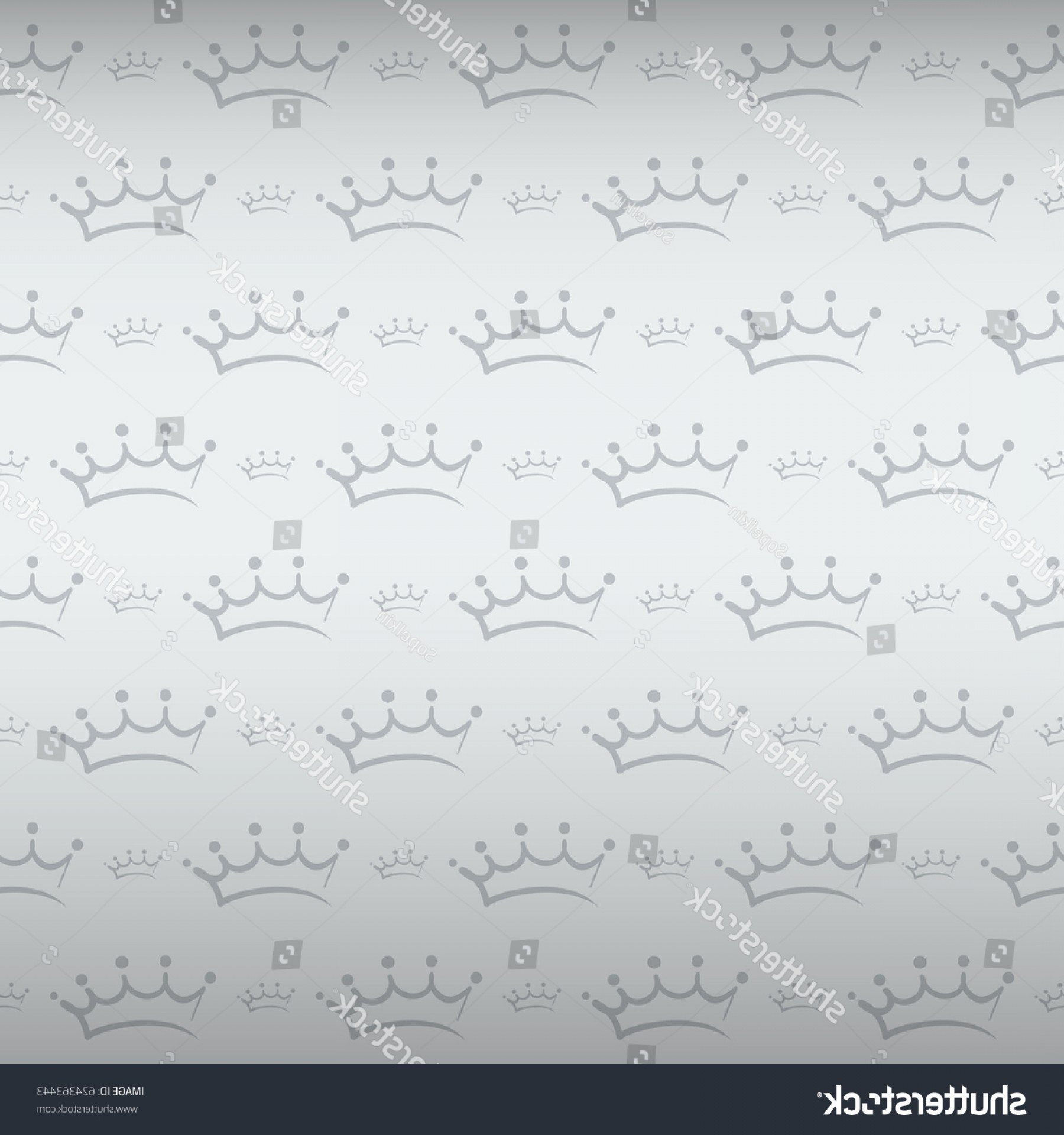 Silver Prince Vector: Royal Style Seamless Pattern Silver Prince
