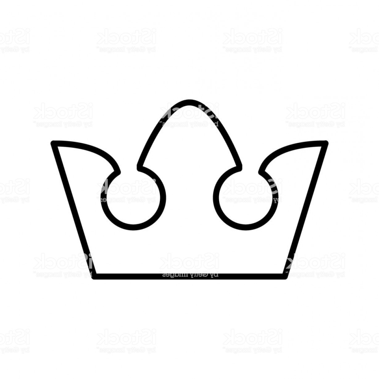 Crown White Outline Vector: Royalty Crown Line Icon Vector Illustration Isolated On White Outline Style Design Gm