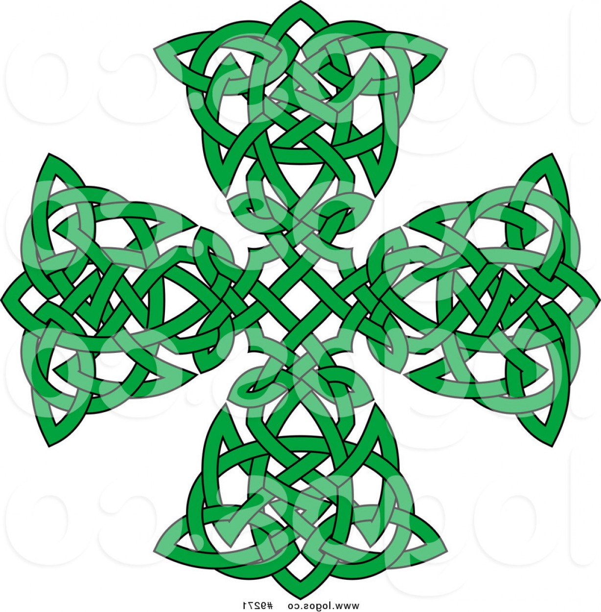 Cool Cross Vector Clip Art: Royalty Free Clip Art Vector Green Celtic Knot Cross Logo By Vector Tradition Sm