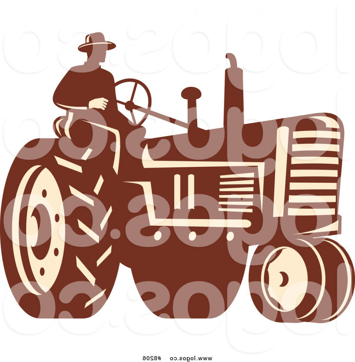 Free Tractor Vector: Royalty Free Clip Art Vector Logo Of A Farmer On A Tractor By Patrimonio