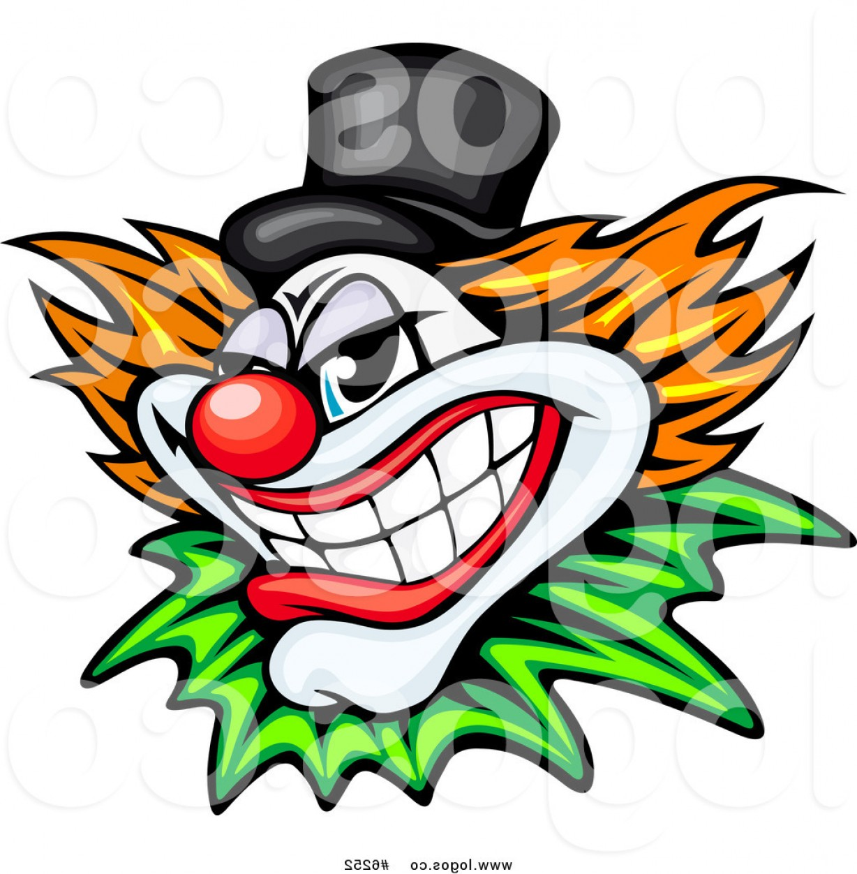 Evil Clown Vector Art: Royalty Free Clip Art Vector Logo Of A Grinning Evil Clown By Vector Tradition Sm