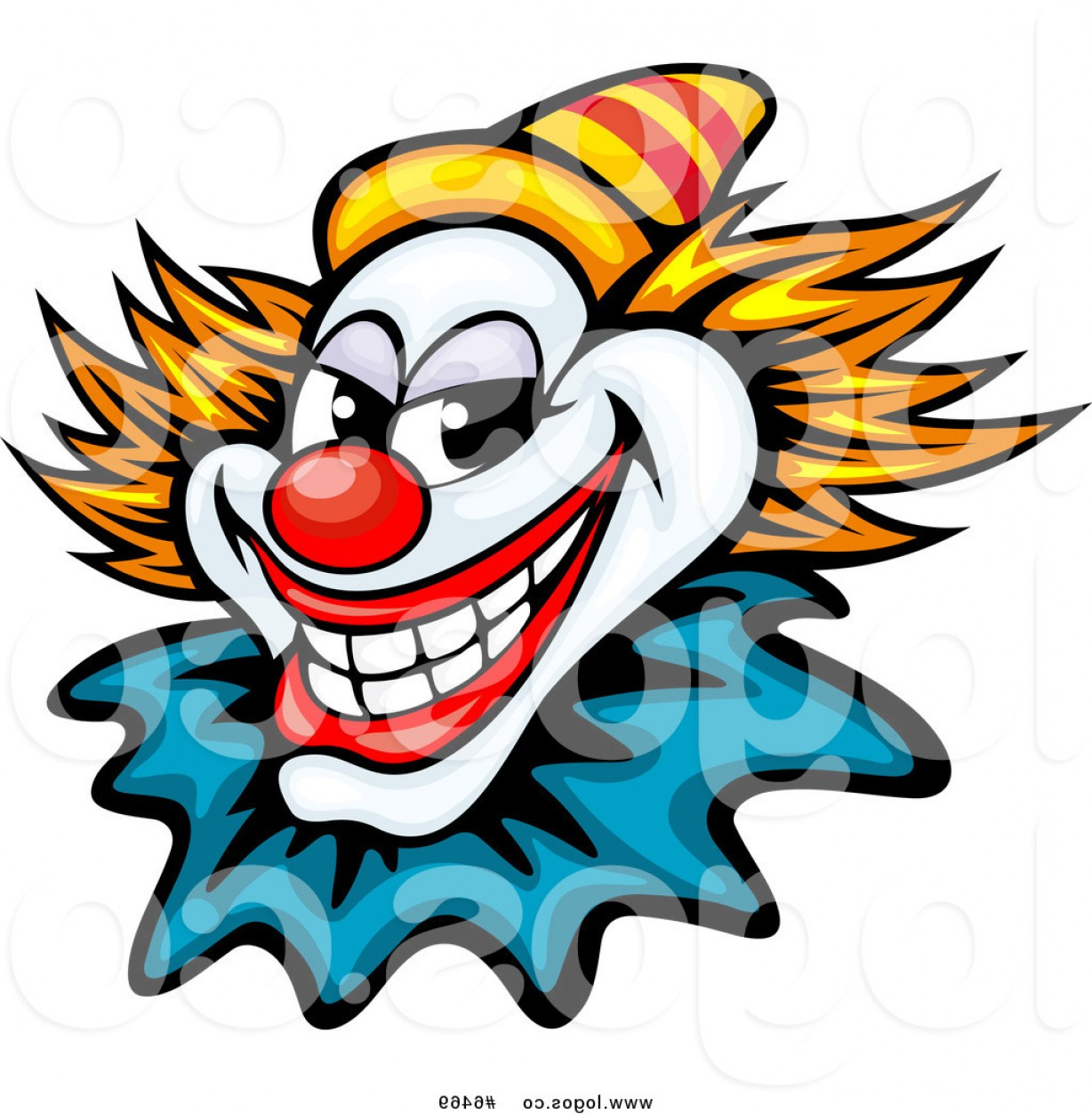 Evil Clown Vector Art: Royalty Free Clip Art Vector Logo Of An Evil Clown Or Joker With A Yellow Hat By Vector Tradition Sm
