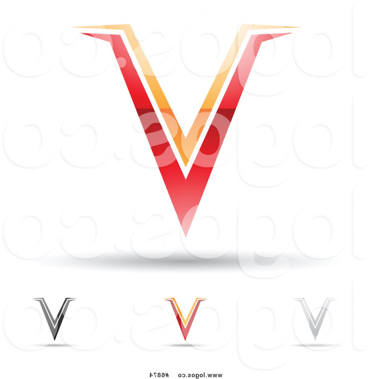 V Logo Vector: Royalty Free Clip Art Vector Logos Of Abstract Letter V Designs By Cidepix