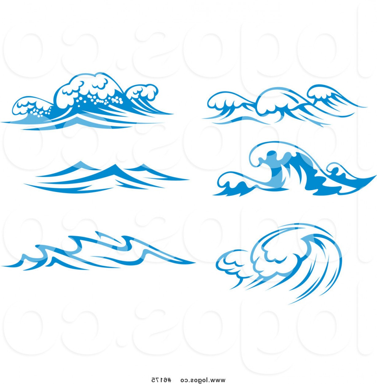 Ocean Water Clip Art Vector: Royalty Free Clip Art Vector Logos Of Blue Ocean Surf Waves By Vector Tradition Sm