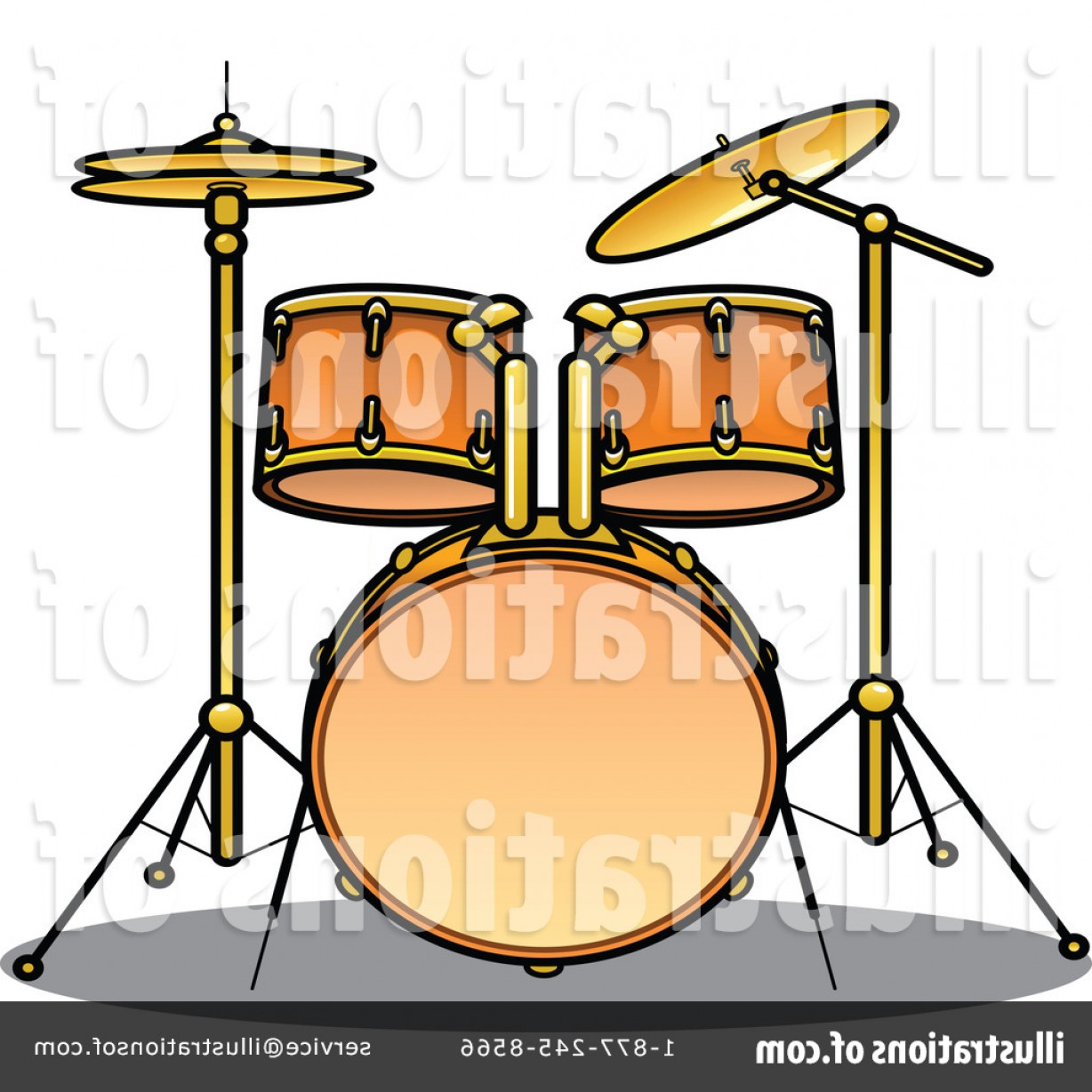 Drum Vector Art: Royalty Free Drums Clipart Illustration