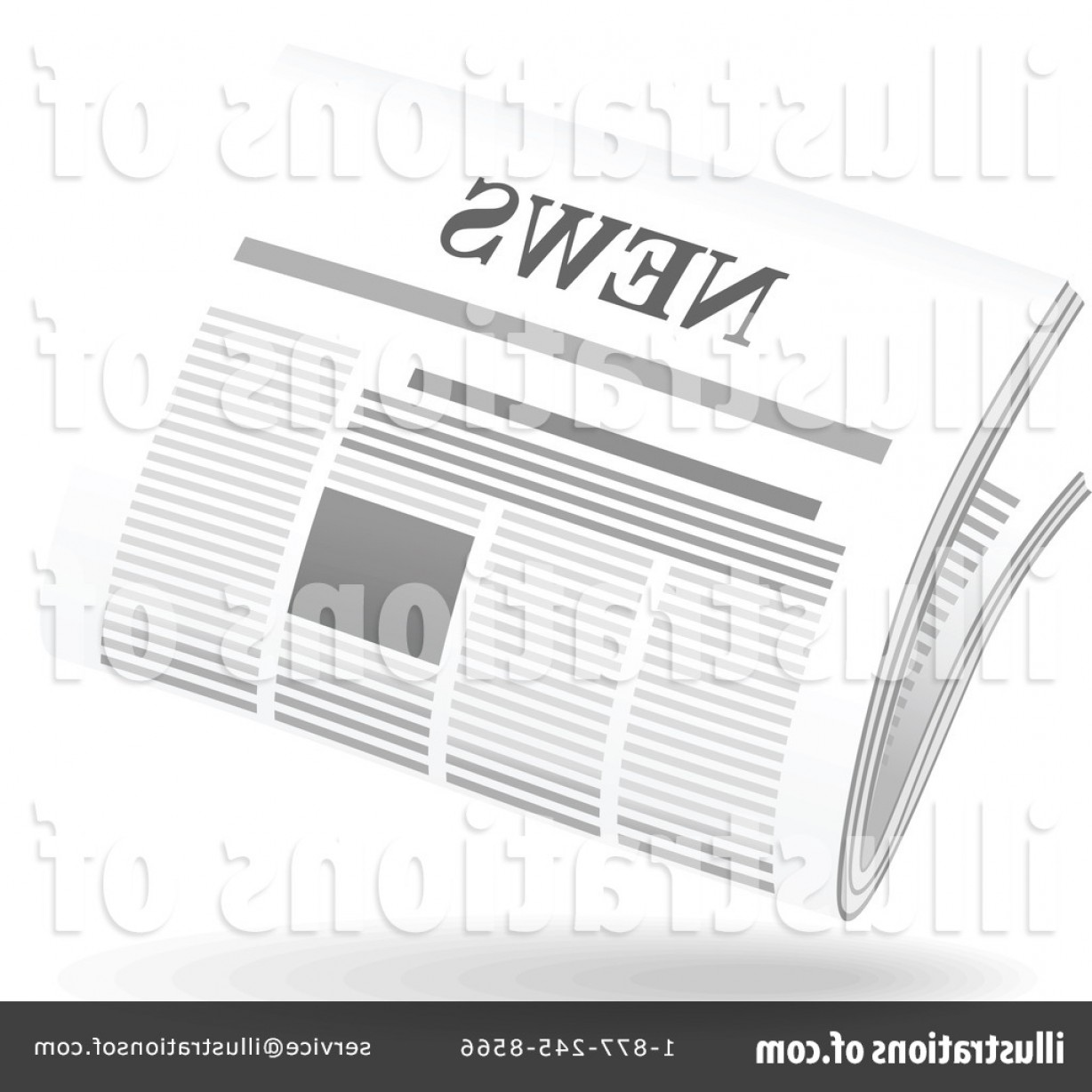 Newspaper Clip Art Vector: Royalty Free Newspaper Clipart Illustration