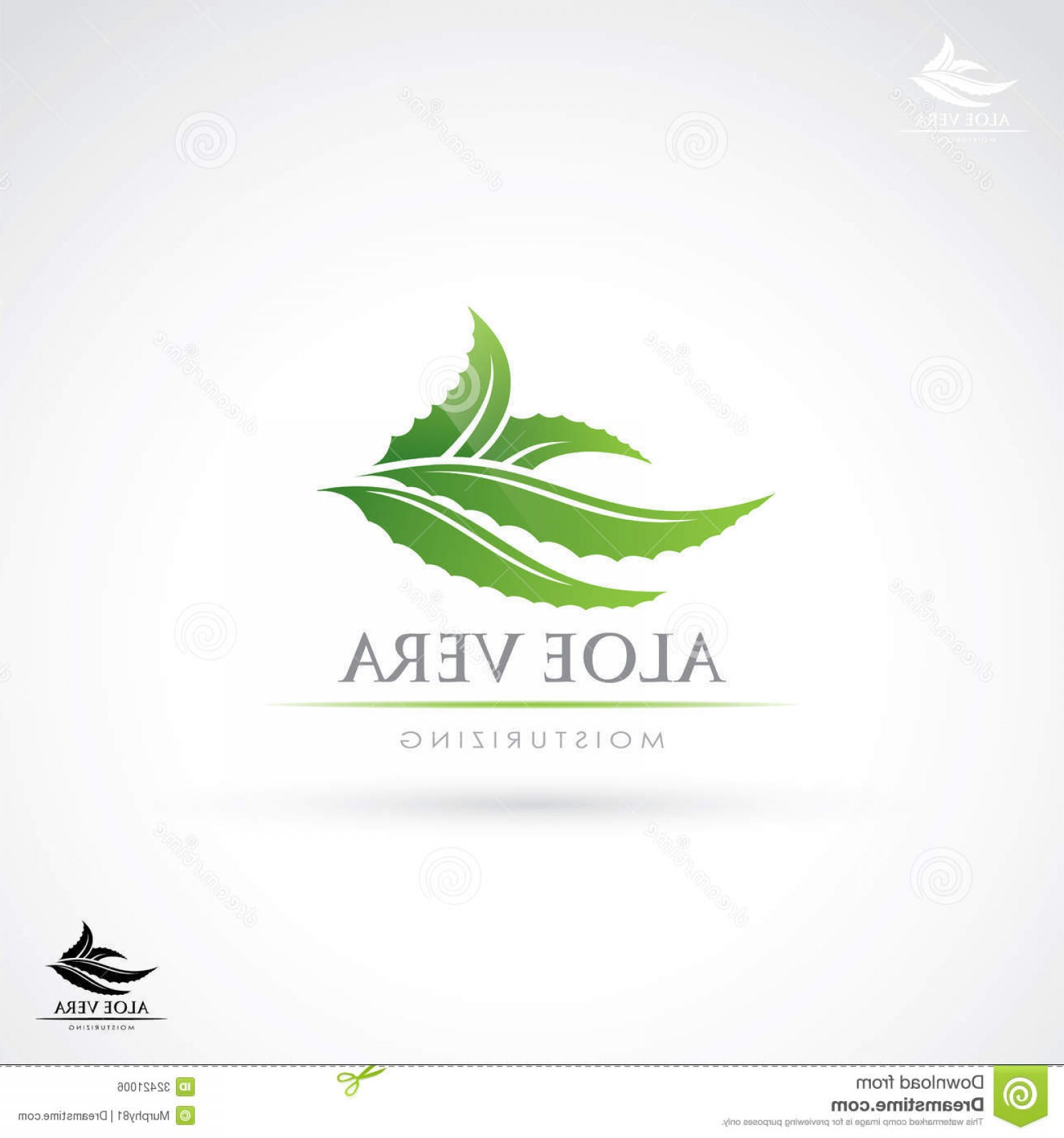 Aloe Vector Graphics: Royalty Free Stock Image Aloe Vera Label Vector Illustration Sign Image
