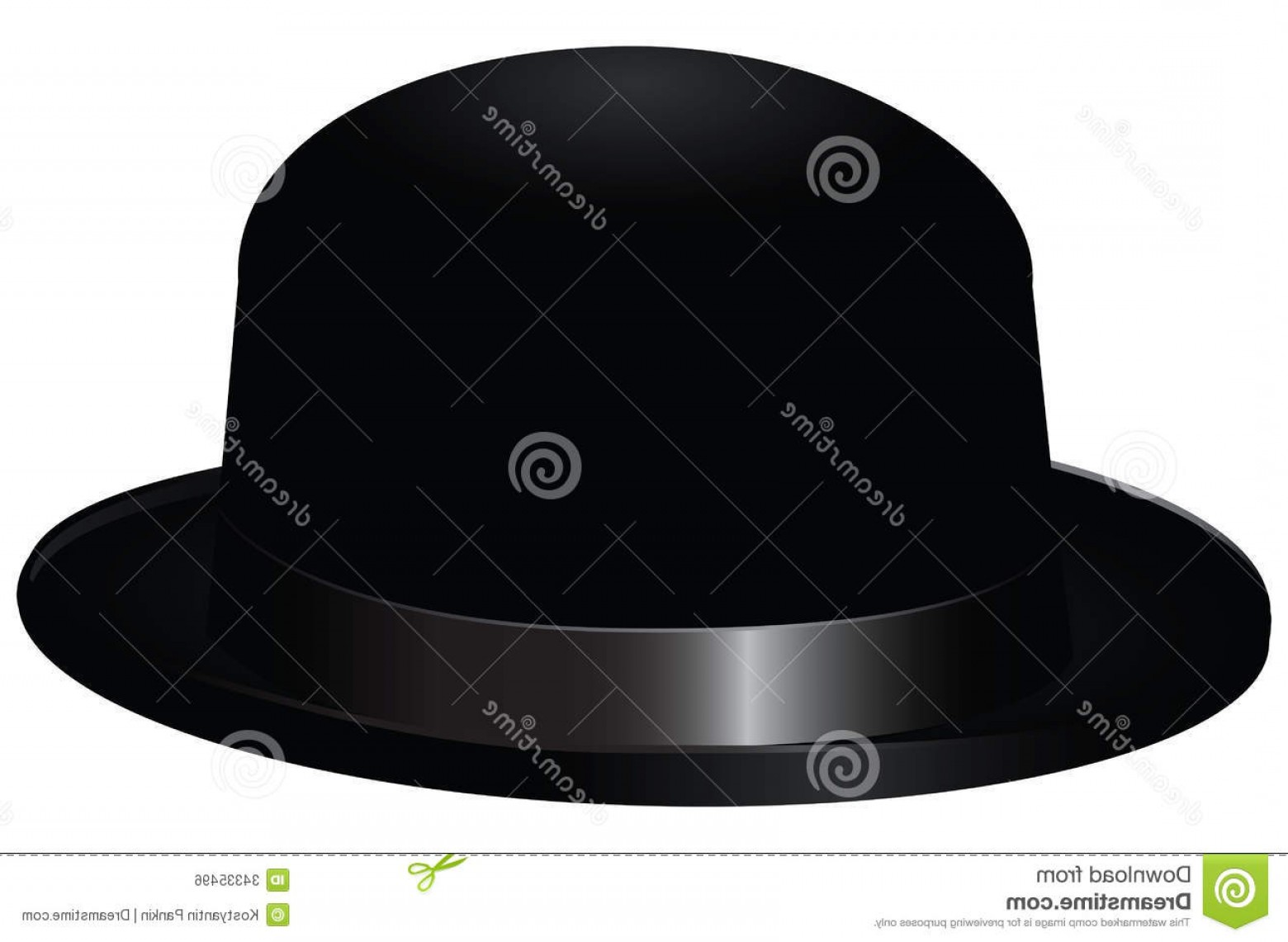 Bowler Hat Vector: Royalty Free Stock Image Black Bowler Hat Also Known As Bob Vector Illustration Image