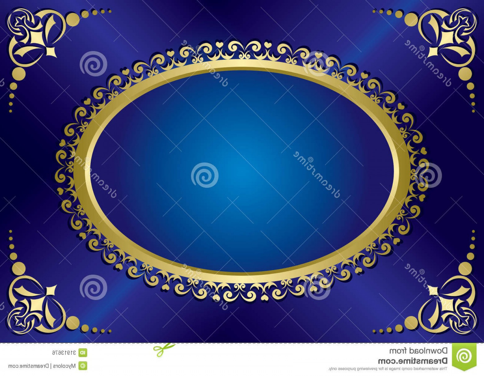 Blue And Gold Border Vector: Royalty Free Stock Image Blue Elegant Vintage Card Gold Frame Vector Eps Image