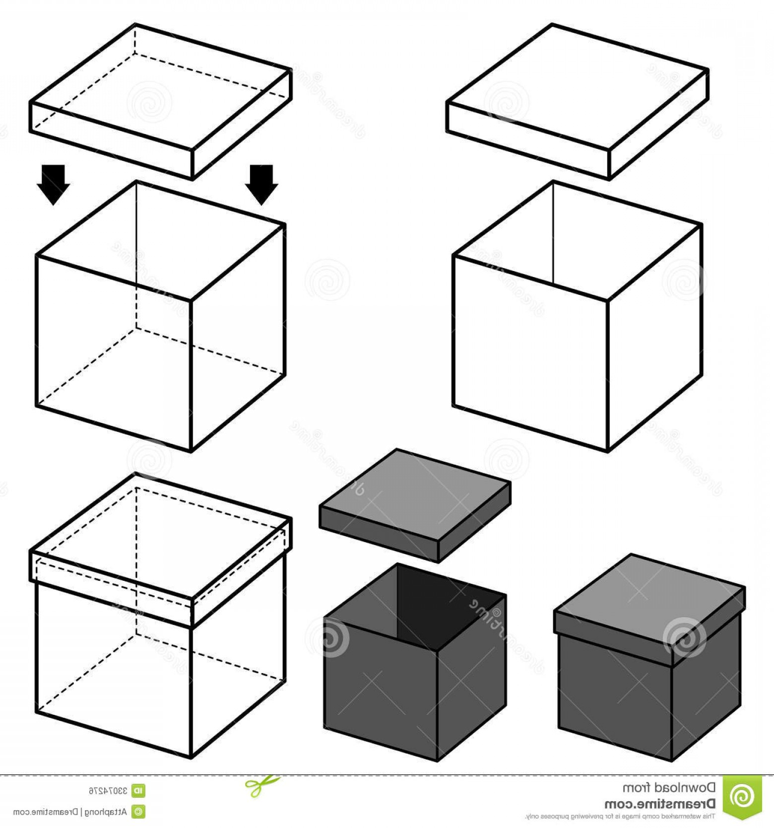Box Outline Vector: Royalty Free Stock Image Box Vector Image Boxes Outline Shade Image