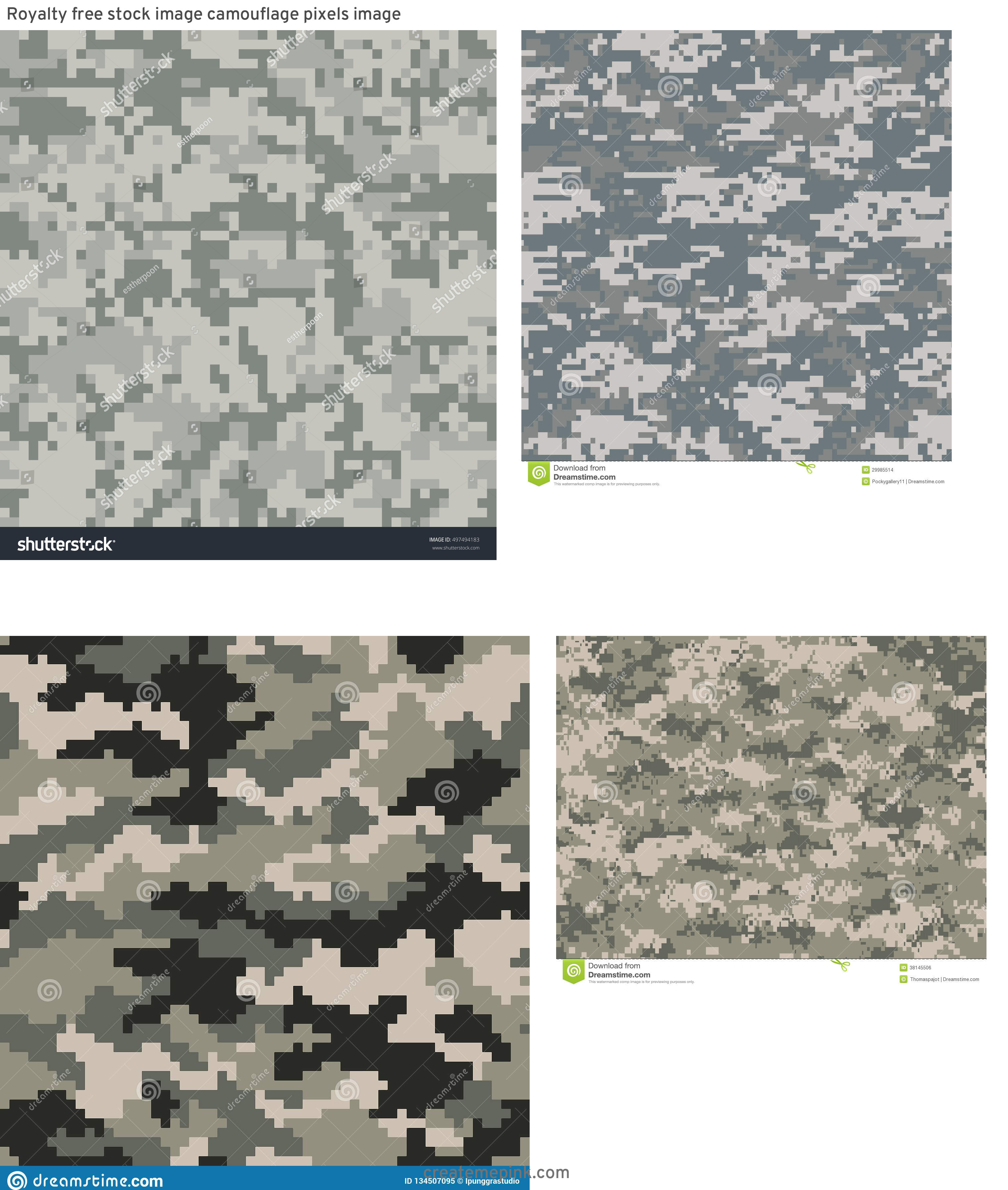 ACU Pattern Vector: Royalty Free Stock Image Camouflage Pixels Image