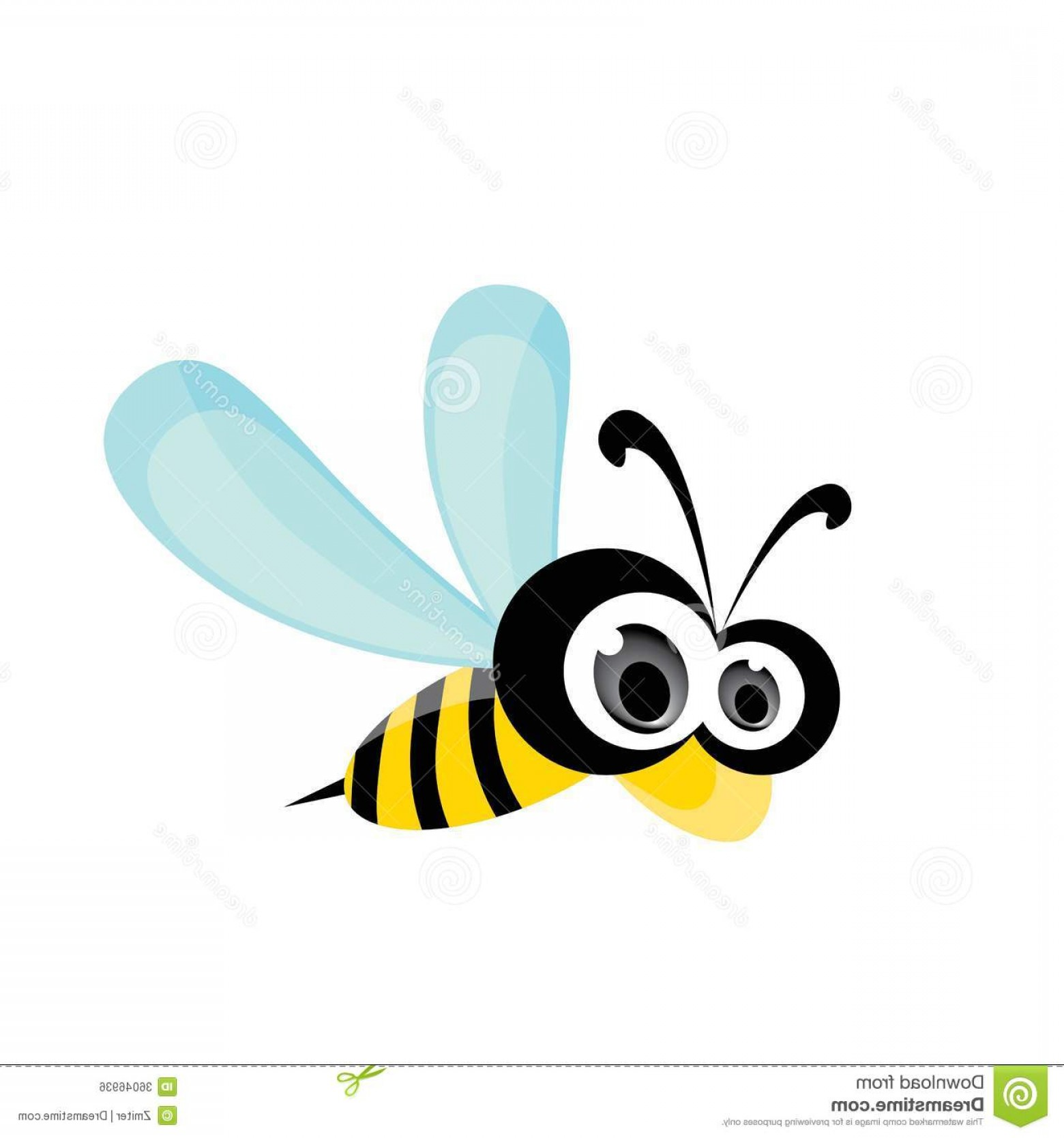 Vector Bee Icon: Royalty Free Stock Image Cartoon Cute Bright Baby Bee Vector Illustration Icon Image