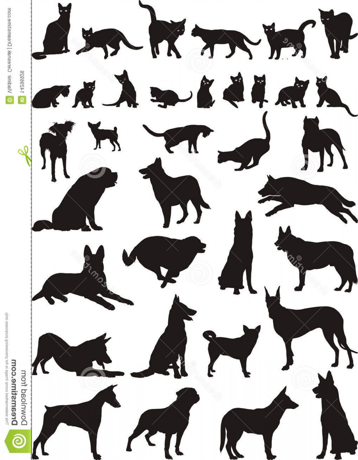 Dog And Cat Vector Illustration: Royalty Free Stock Image Cats Dogs Vector Illustrations Image
