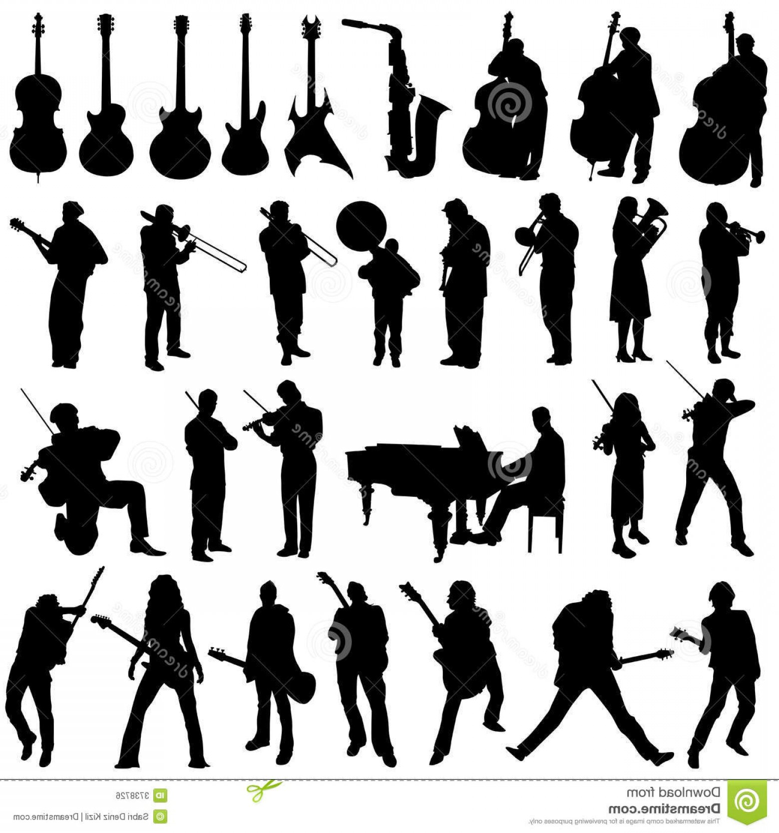 Musician Person Vector: Royalty Free Stock Image Collection Musician Music Object Vector Image