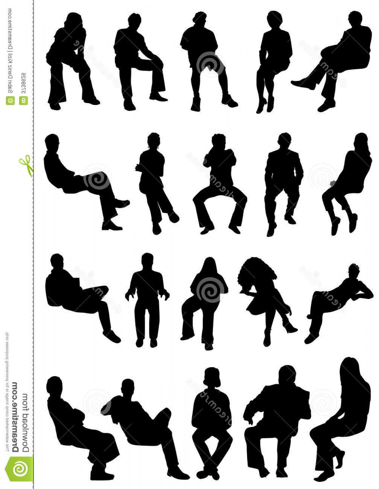 Vector People Free Clip Art: Royalty Free Stock Image Collection Sitting People Vector Image