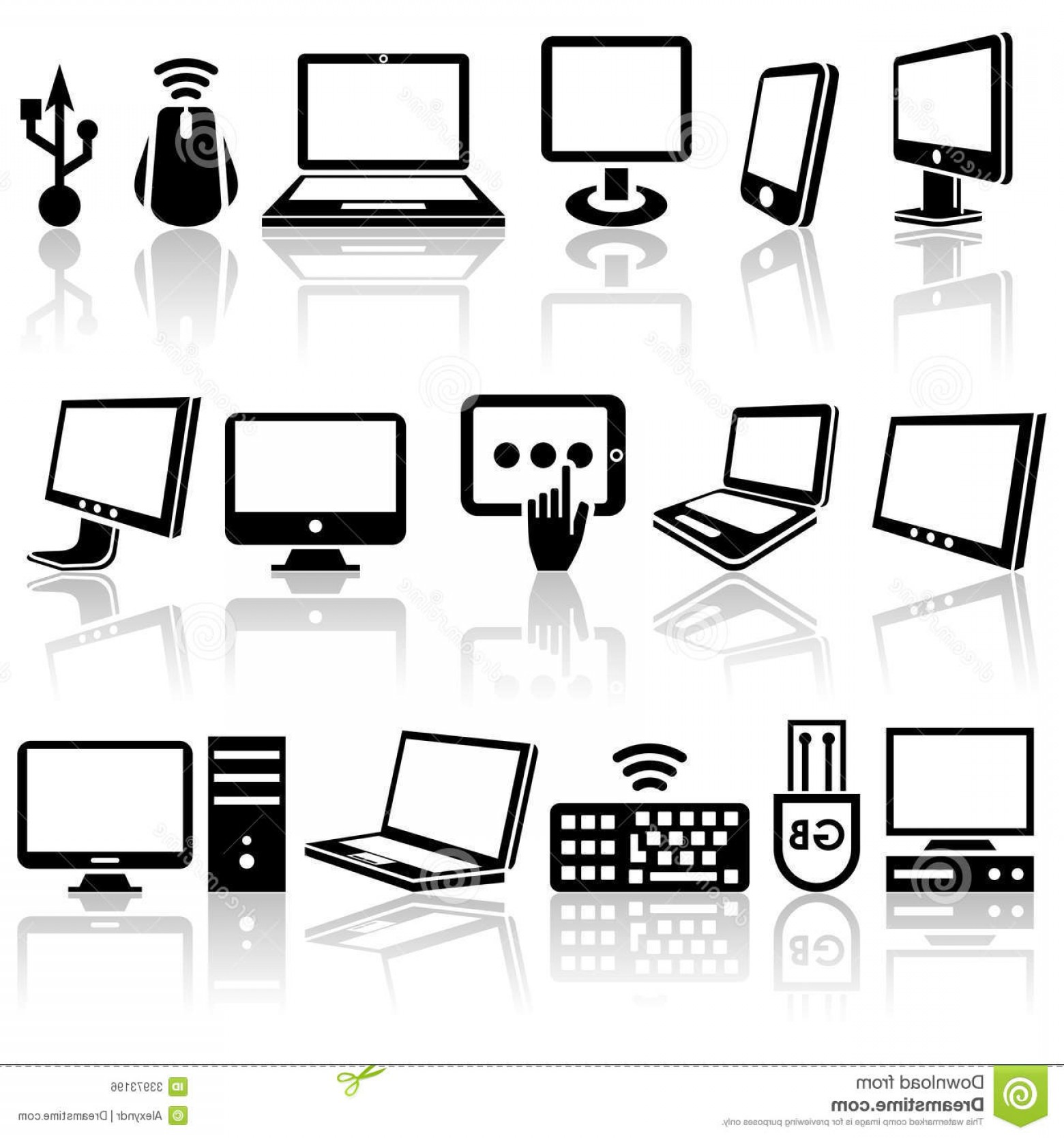 Computer Vector Icon Flat: Royalty Free Stock Image Computer Vector Icons Set Eps File Available Image