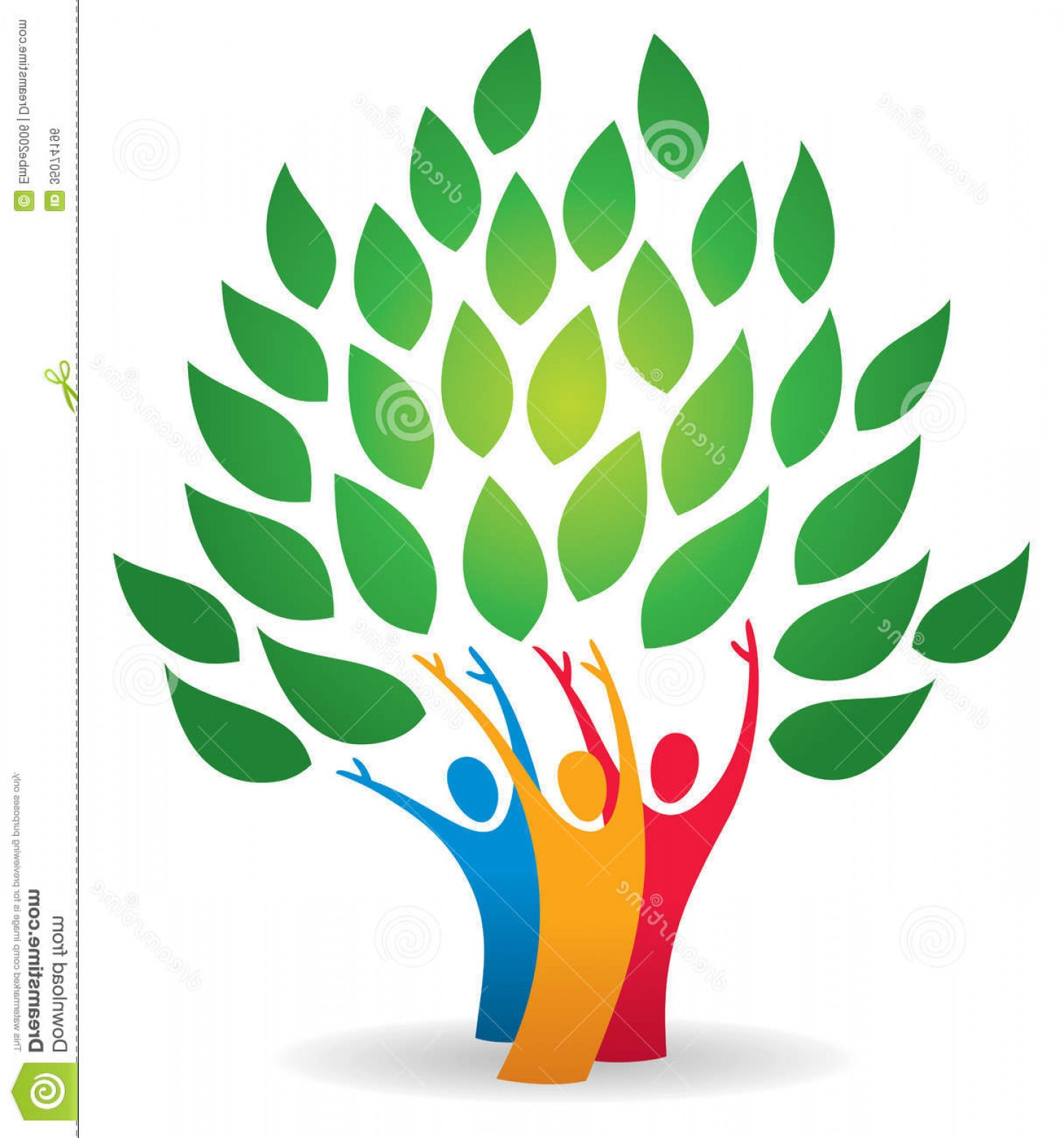 Family Reunion Vector Symbol: Royalty Free Stock Image Family Tree Logo Leaves Icon Image