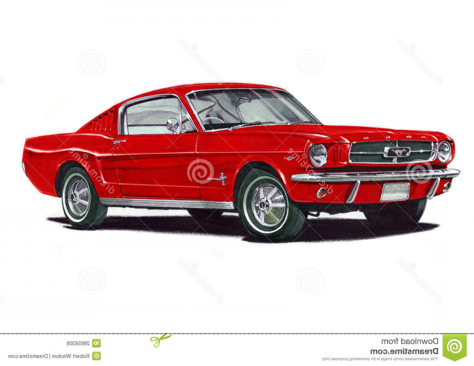 2005 Ford Mustang GT Drawing Vector: Royalty Free Stock Image Ford Mustang Fastback Image