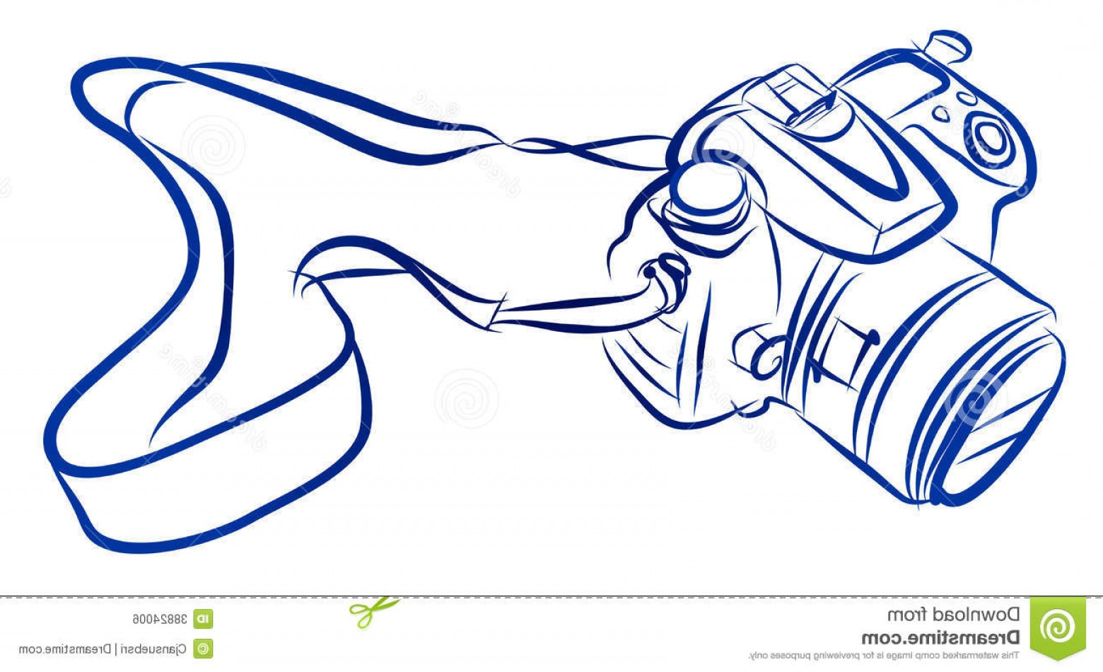 SLR Camera Vector: Royalty Free Stock Image Free Hand Sketch Dslr Camera Vector Illustration Image